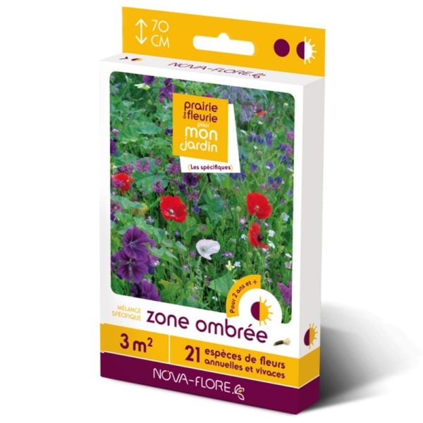 PRAIRIE FLEURIE SPECIFIQUES-ZONE OMBREE 3 M²